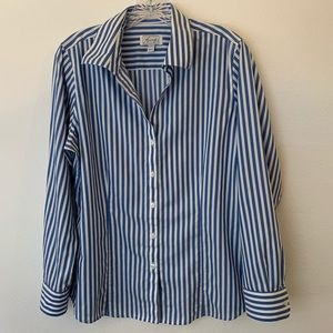 Foxcroft Wrinkle Free Button Up Blouse-Size Large